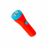Orange plastic flashlight Stock Photography