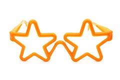Orange plastic glasses - childs toy Royalty Free Stock Photo