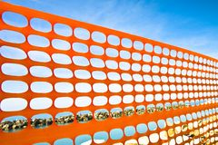 Orange plastic grid Royalty Free Stock Photos