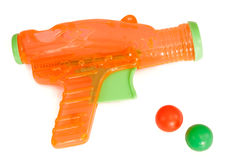 Orange plastic gun Royalty Free Stock Image