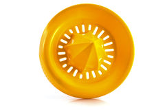 Orange plastic lemon squeezer Royalty Free Stock Images