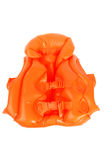 Orange plastic life jacket Royalty Free Stock Photography