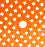 Orange plastic mesh Stock Images