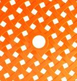 Orange plastic mesh Stock Images