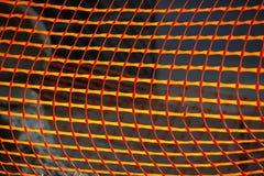 Orange plastic netting Stock Images