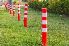Orange Plastic Pole traffic Stock Photography
