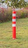 Orange Plastic Pole traffic Royalty Free Stock Image