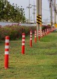 Orange Plastic Pole traffic Stock Photo