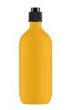 Orange plastic shampoo bottle Royalty Free Stock Image