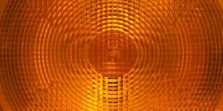 Orange plastic surface of warning light Stock Image