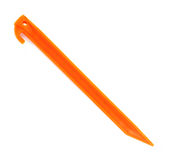 Orange plastic tent spike Royalty Free Stock Image