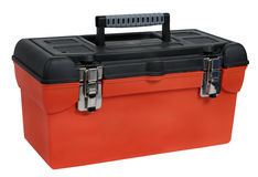 Orange plastic toolbox Royalty Free Stock Photography