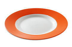 Orange plate Royalty Free Stock Photography