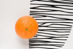 Orange on plate Royalty Free Stock Photos