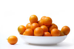 Orange on the plate Royalty Free Stock Photo