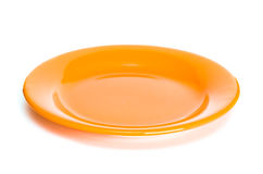 Orange plate Stock Photos