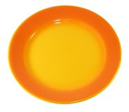 Orange plate Stock Photo