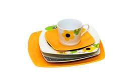 Orange plates Royalty Free Stock Images