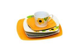 Orange plates Royalty Free Stock Images