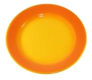 Orange Platte Stockfoto