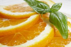 Orange Platte Lizenzfreie Stockfotos