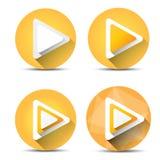 Orange Play button set. vector illustration Stock Photos