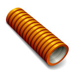 Orange plumbing corrugated tube Stock Photos