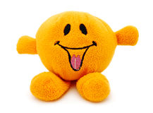 Orange plush toy Stock Images