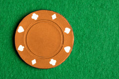 Orange Poker Chip Stock Images