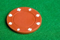 Orange Poker Chip Stock Image