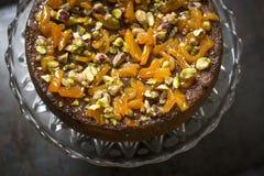 Orange and Polenta cake Stock Photo