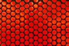 Orange Polka-Dot Pattern Wall Train Stations-Beschaffenheits-Detail Archi lizenzfreie stockfotografie