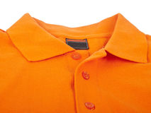 Orange polo shirt Stock Photography
