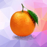 Orange polygon Royalty Free Stock Photo