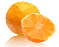 Orange polygon on a white background Royalty Free Stock Photos