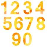 Orange Polygonal Numbers Stock Photos