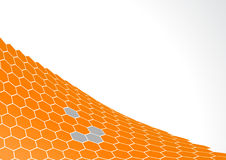 Orange polygons. Vector art Stock Photos