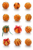 Orange pomander balls Royalty Free Stock Images