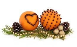Orange Pomander Fruit Stock Photography