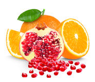 Orange and pomegranate Royalty Free Stock Photography