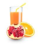 Orange - pomegranate juice Royalty Free Stock Images