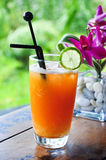 Orange pomelo mocktail. The mixed of orange ,lime, pomelo and fruit punch mocktail Stock Images
