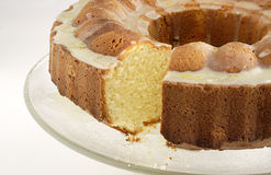 Orange pond cake Stock Images