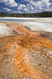 Orange pool in Yellowstone Royalty Free Stock Photography