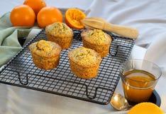 Orange And Poppyseed Cakes Stock Photo