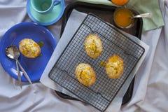 Orange And Poppyseed Cakes Royalty Free Stock Photo