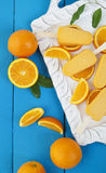 Orange Popsicle Ice Cream Bars Stock Photos