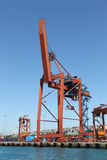 Orange Port Crane Stock Photography