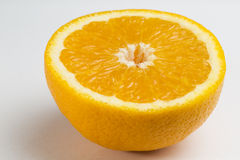 Orange Portion with Clipping Path and flesh Royalty Free Stock Photo