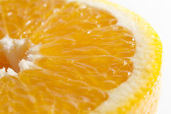 Orange Portion with Clipping Path and flesh Stock Photos
